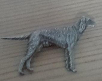 Vintage silver dog brooch