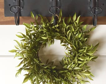 Farmhouse Faux Greenery Wreath | Small Wreath | Fixer Upper Style