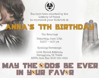 Hunger Games Invitation (Digital File)