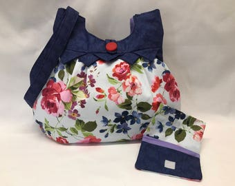 Floral Fabric Purse & Wallet