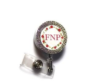 FNP Retractable Badge Reel - Family Nurse Practioner Id Holder - FNP Nursing Student ID Holder - Nurse Practioner