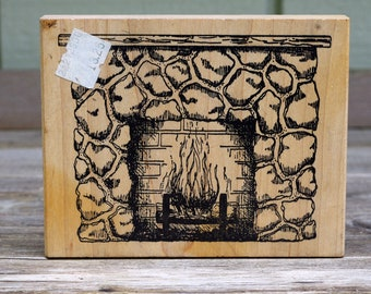 Peddler's Pack Wood Mounted Stamp Fireplace 1995