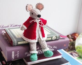 Crochet Mouse, crochet toy, Crochet Christmas Mouse, crochet plush toy, crochet stuffed animal, amigurumi crochet toy, handmade toys