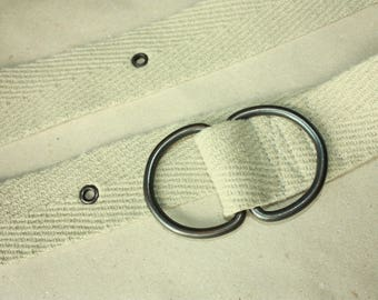 Soft Belt - Vintage Mens Belt - Metal rings ... a Fashionista Statement Piece can fit for Size S and M and L and XL and XXL