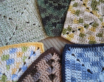 """8"""" Square Washcloth, USA Grown Cotton, US Shipping Included, Made to Order, Custom"""