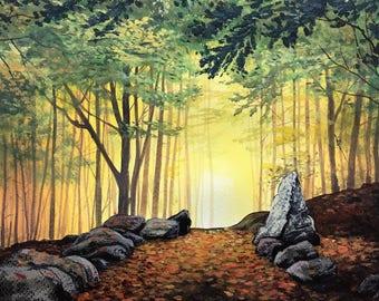 Woodand Glow Canvas Print