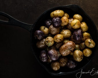 Food Photography - Kitchen Decor - Restaurant Decor - Roasted Baby Potatoes