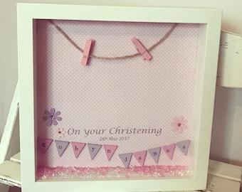 Christening Photo Frame • Personalised Gift • Christening Gift