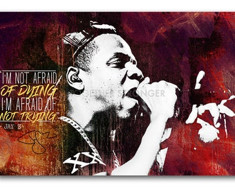 Jay z poster etsy jay z inspirational quote pre signed poster print 12x8 inches 30cm x malvernweather Choice Image