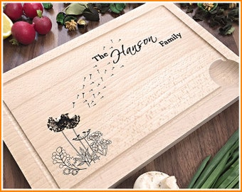 Personalized Cutting Board, Custom Housewarming Gift, Engraved Cutting Board, Wedding, Anniversary, Engagement Gift, For Couple, Newlyweds