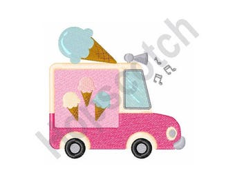 Ice Cream Truck - Machine Embroidery Design