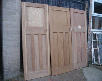 Reclaimed stripped pine 1930s doors