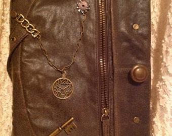 Brown leather iPad folio/cover