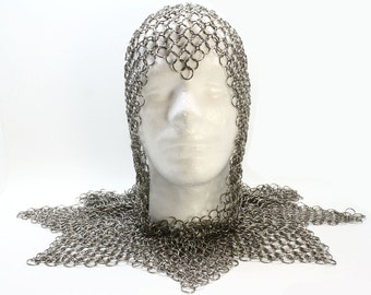 Game Of Thrones Inspired Knight's Coif With Mantle Chainmail Armor Custom Made To Fit