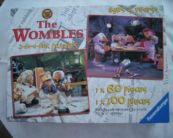 THE WOMBLES JIGSAW, 2-in-a-box Jigsaw Puzzle. Ravensburger Jigsaws, 1 x 60 Pieces, 1 x 100 Pieces. Age 4+. Complete.
