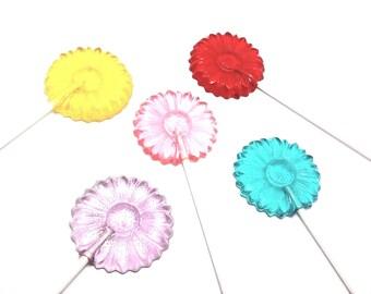 12 DAISY LOLLIPOPS - Flower lollipops, Garden Party