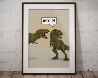 Trex | A3 Print | Poster | Artprint | Illustration | Dinosaurs | Comic