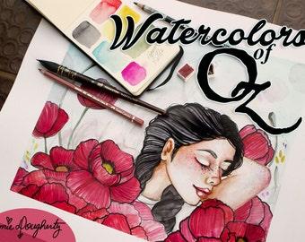 Watercolors Of Oz Online Workshop Beginning July 1st