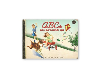 "Digital vintage children's ABC book / alphabet book /  ABC flash cards / 5"" by 7"" / printable / downloadable"
