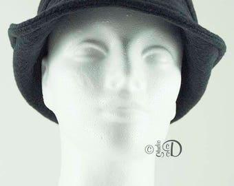 Fleece Hat, Fleece Fedora, Fleece Bucket Hat, Fleece Cloche, Color Block Hat, Black  Hat, Fedora, Bucket Hat, Hat, Cloche