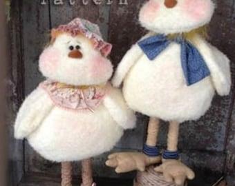 "PATTERN : ""Twiddle 'n' Tweet"" cloth doll patterns by Sparkles n' Spirit"