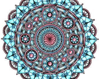 "Mandala art print ""Movement"""
