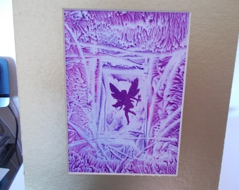 Wall Art, Encaustic wall art,  Fairy  wall art, Fairy Silhouette picture