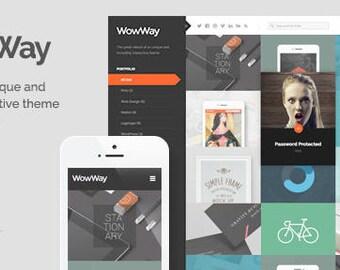 Premium Wordpress Desing WowWay Interactive & Responsive Portfolio Blog Theme. Create your own Stunning and Unique Website