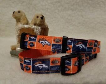 Broncos Handmade DogCollar 5/8 Inch Wide