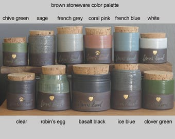 Info: glaze color palette for brown clay urns