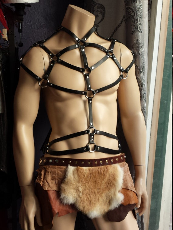 Leather Harness Men's Black Leather Chest Harness Clubwear Mr Leather Oe2Dhx9LC