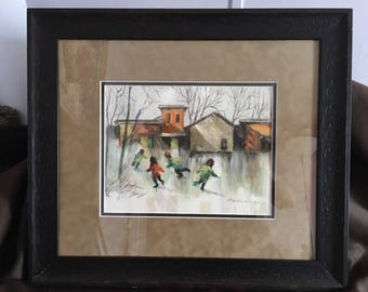 Original Watercolor by Robert Fabe.  Listed Artist