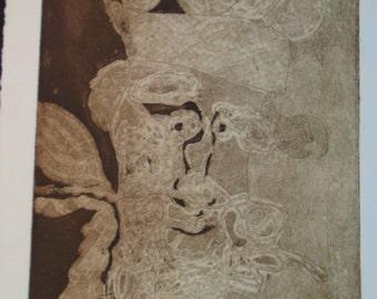 Art print- Not All That Damn Aboriginal- Etching