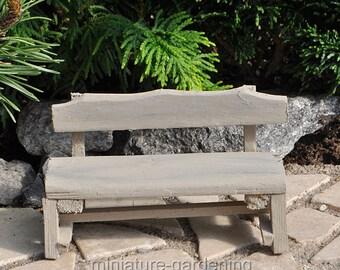 Farm Bench for Miniature Garden, Fairy Garden