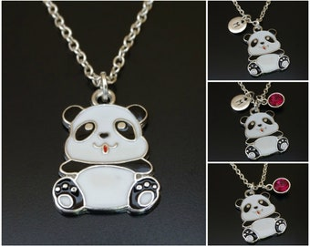 Panda Necklace, Panda Charm, Panda Pendant, Panda Jewelry, Panda Bear Necklace, Panda Bear Jewelry, Panda Women, Panda Girl, Panda Gifts