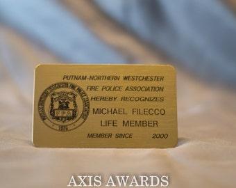 Metal Identification Cards