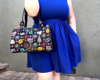 Handbag made with Star Wars Sugarskull fabric