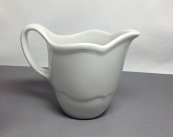 Vintage Interpace Shenango China Porcelain White Creamer Small Picture New Castle PA U-35 USA Made in USA