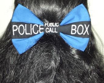 Police Box Hair Bow