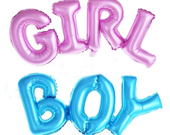 It's a Boy or It's a Girl Gender Reveal Mylar Balloon - Giant Foil Balloon Helium Large BG040218
