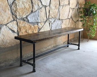 WOOD RUSTIC BENCH