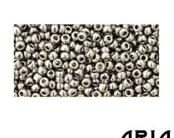 ANTIQUE SILVER (711): 11/o Toho Japanese Seed Beads (10 grams)