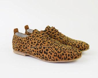 Leopard Print Oxford Shoes