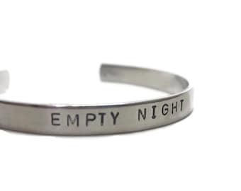 Empty Night Customizable Hand Stamped Cuff Bracelet