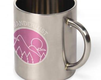 Stainless Steel-CUSTOM FULL COLOR Design 10 oz Mug--Add Anything--