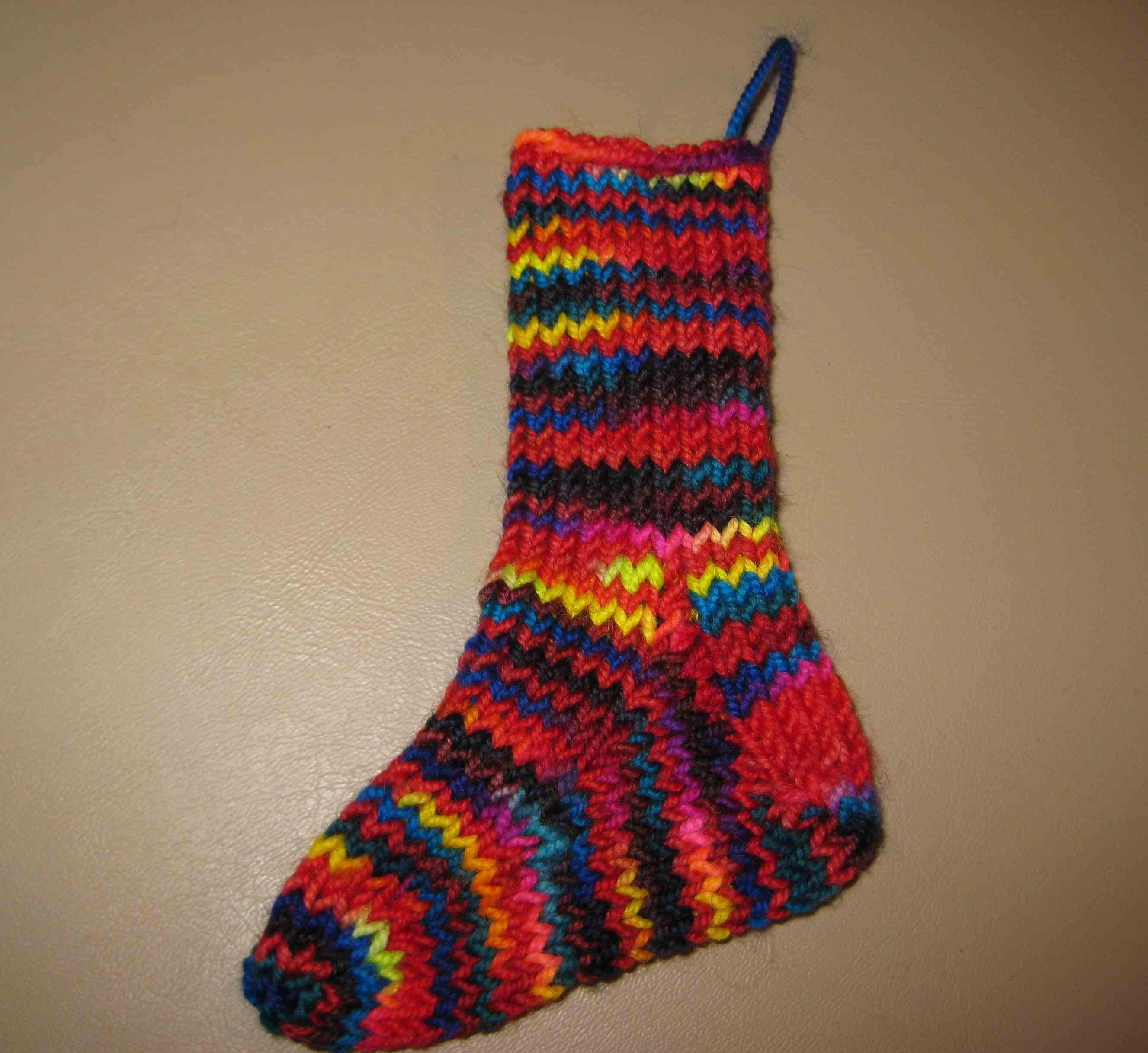 Insouciant Studios Handknit Mini Merino Sock Stocking Decoration Ornament Baby