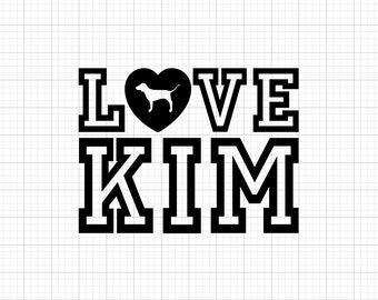 Love Kim - Iron-On Heat Transfer Vinyl Decal
