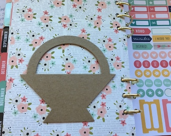 Basket Blanks-DIY Chipboard-Alterable Chipboard Basket Decor-Unfinished-Party Decor-Kids Spring Crafts-Planner Accessories-Cupcake Toppers