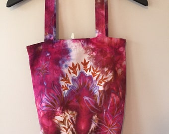 Ice Dyed Tough Tote, Hand-dyed, Hand-painted, #146