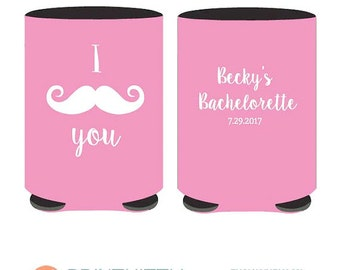 Bachelorette party favors - I Moustache You Can Coolers Personalized Bachelorette Cooler Customized can coolers - Coolers (65)